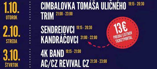 program pivny oktober na fest 2019 Liptovský Mikuláš